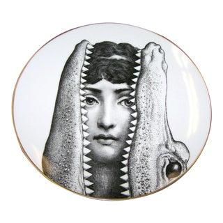 Rosenthal Fornasetti Porcelain Plate, Motiv 24, 1980s.