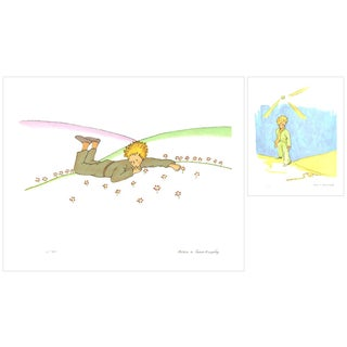 Bundle- 2 Assorted Antoine De Saint Exupery Petit Prince- Little Prince Lithographs For Sale