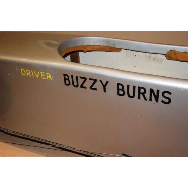1980s Official Buzzy Burns Soap Box Derby Fiberglass Car For Sale In Richmond - Image 6 of 11