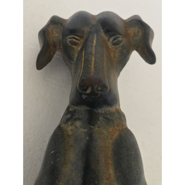 1980s 1980s Cast Iron Hound Dog Doorstop For Sale - Image 5 of 12