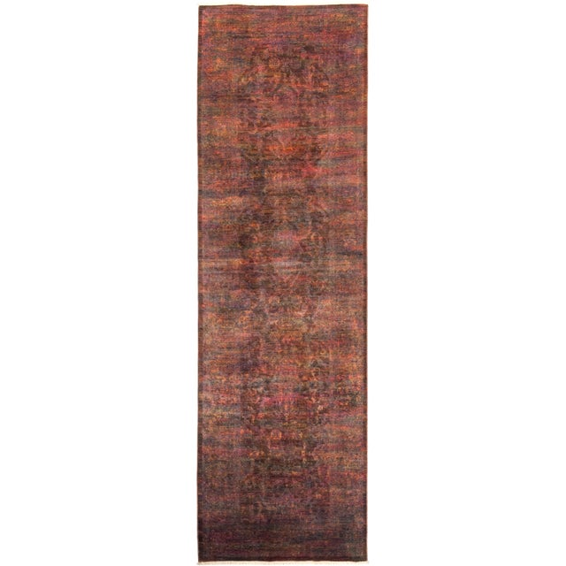 """Vibrance Hand Knotted Runner Rug - 3' 2"""" X 10' 8"""" - Image 4 of 4"""