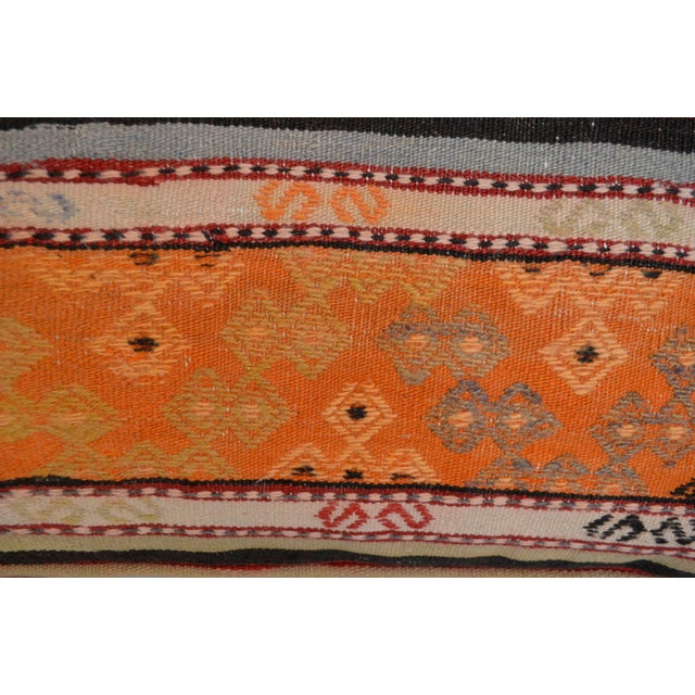 Turkish Hand Woven Floor Cushion Cover - 29″ X 29″ - Image 10 of 10