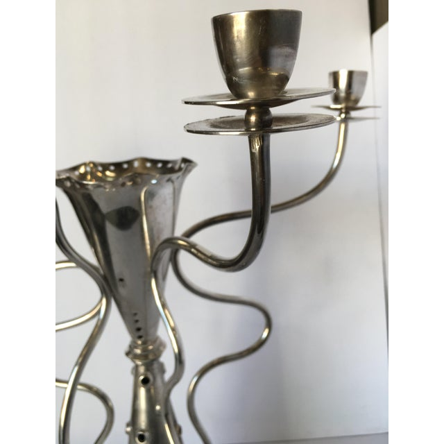 Postmodern Simon Silver-Plated Candelabra by for Driade For Sale - Image 3 of 11
