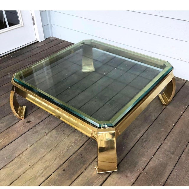 Brass 1980s Ming Mastercraft Solid Brass Coffee Table For Sale - Image 7 of 7