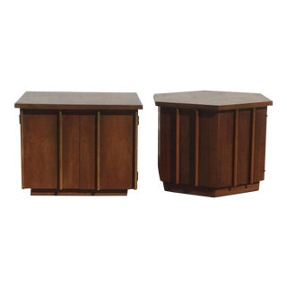 Mid Century Modern Lane Walnut End Tables - a Pair For Sale