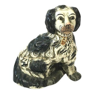 1920s Staffordshire Dog King Charles Spaniel Figurine For Sale