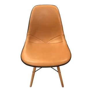 Mid Century Modern Eames for Herman Miller Molded Fiberglass Shell Chair Newlt Upholstered For Sale