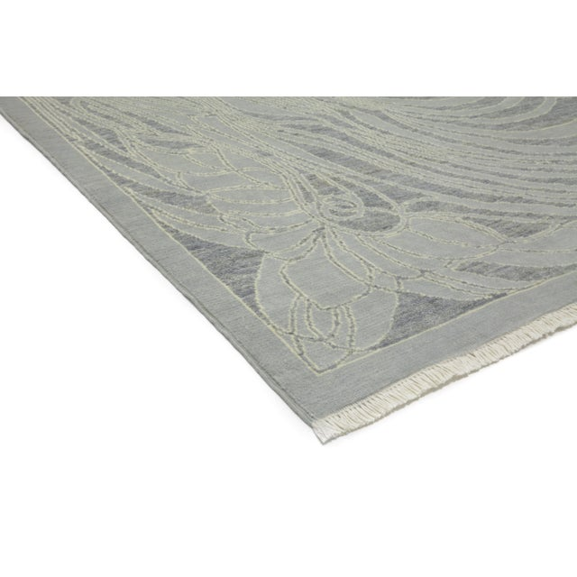 """New Contemporary Hand Knotted Area Rug - 8' x 10'3"""" - Image 2 of 3"""