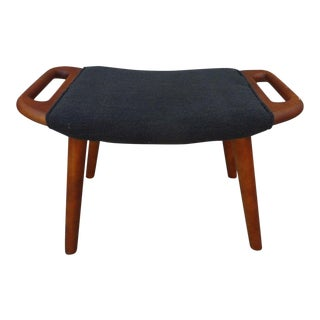 1960s Danish Modern Two Handled Teak Bench For Sale