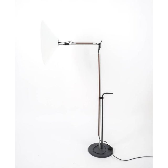 Rare early Aggregato floor lamp designed by Enzo Mari, Italy, circa 1970. Articulate light with very flexible...