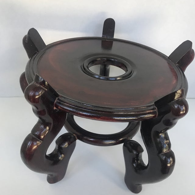 Asian Vintage Chinese Wooden Plant Stand For Sale - Image 3 of 5