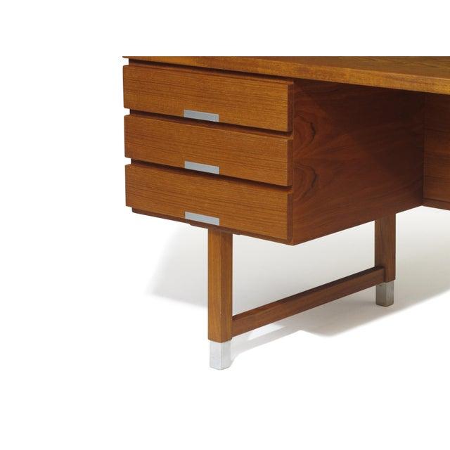 1950s Kai Kristiansen Teak Desk For Sale - Image 5 of 5