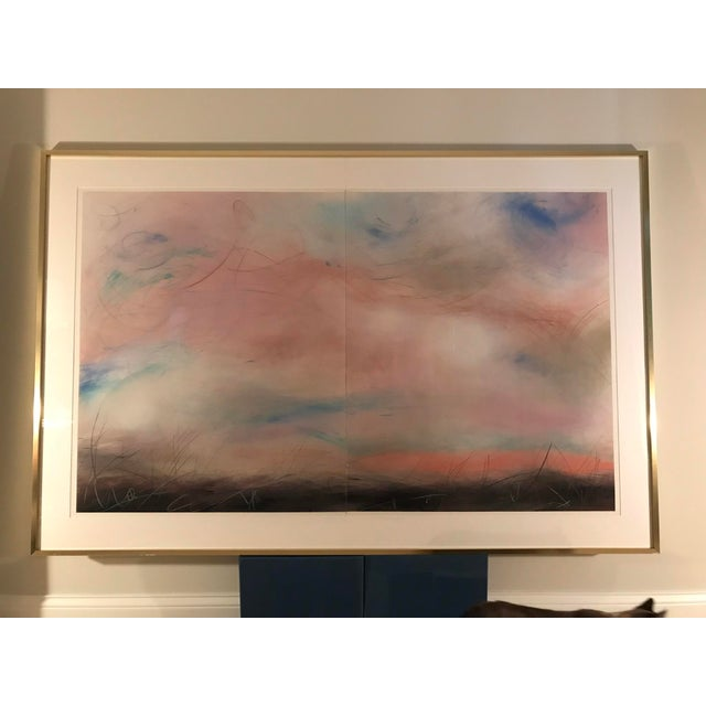 Original Aleah Koury pastel diptych from 1980's. Artist: Aleah Koury b.1952 in Bellington Washington This original pastel...
