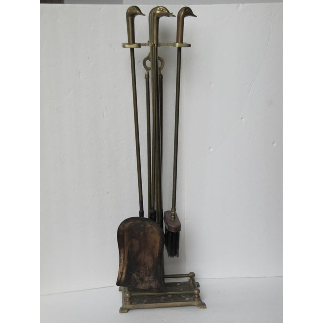from made nice pin fireplace heavy english style circa tools brass set duty tool antique