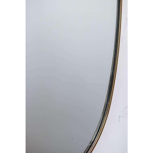 Gio Ponti-Style Italian Shield Mirror - Image 7 of 7