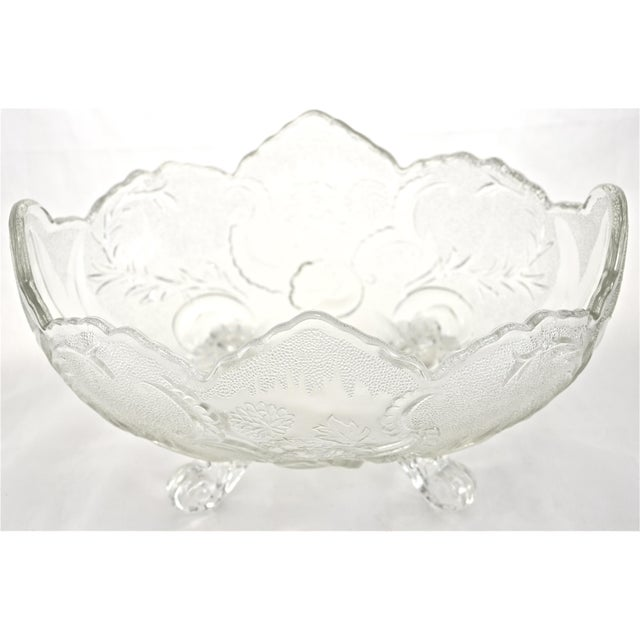 Antique Oval Footed Flower & Vine Bowl - Image 3 of 4