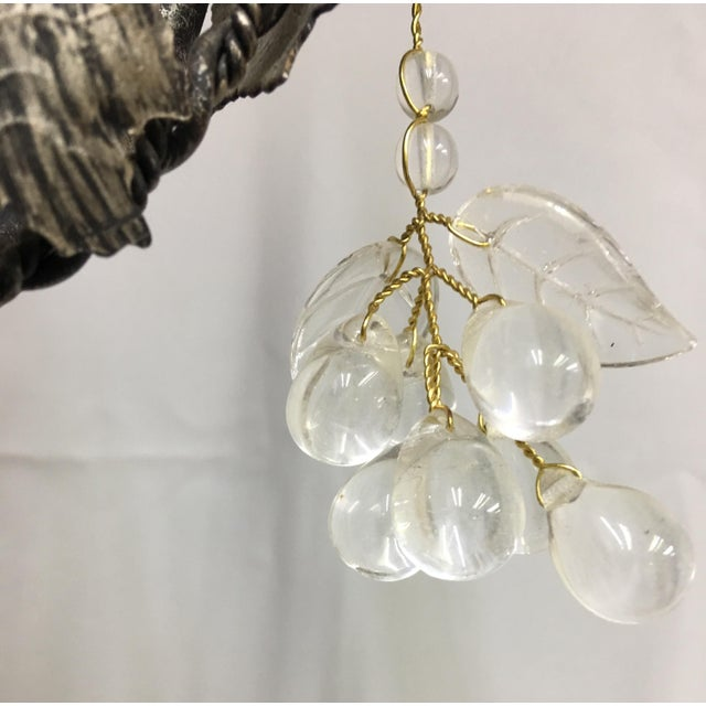 2000 - 2009 Contemporary Floral John Richard 3 Arm Chandelier For Sale - Image 5 of 9