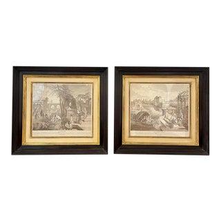 A Pair of Prints Finely Framed l'Hiver Et Printemps For Sale