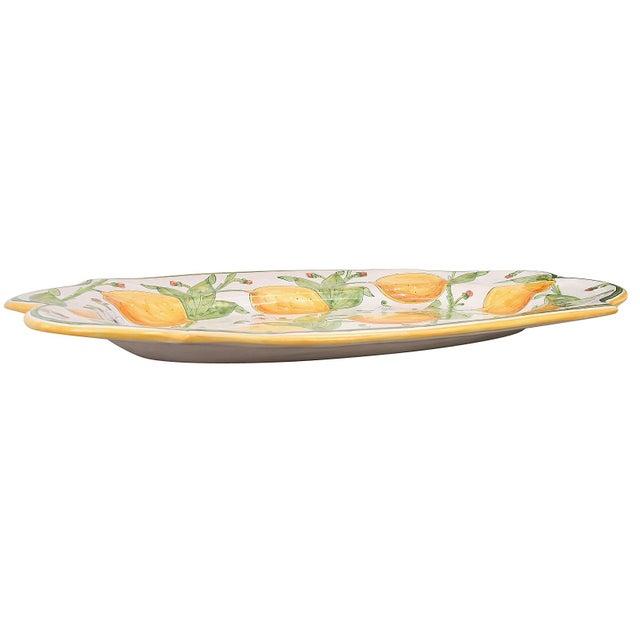 1990s 1990s Vintage Hand Made Italian Ceramic Platter For Sale - Image 5 of 7
