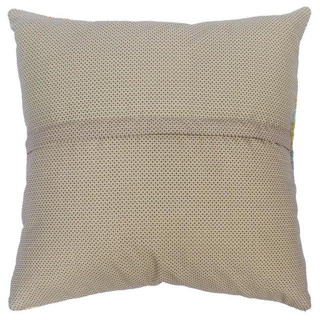"2010s Darius Gray/Tan Hand-Woven Kilim Throw Pillow(18""x18"") For Sale - Image 5 of 6"