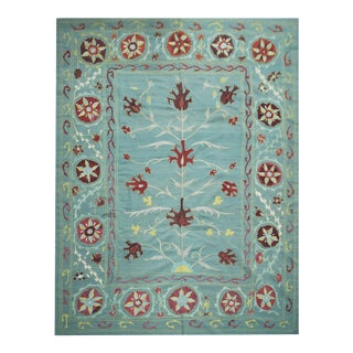 "Hand Knotted Suzani Kilim by Aara Rugs - 9'0"" x 12'2"""