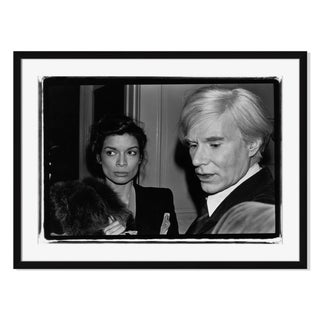 """Andy Warhol & Bianca Jagger"" by Fred W. McDarrah"