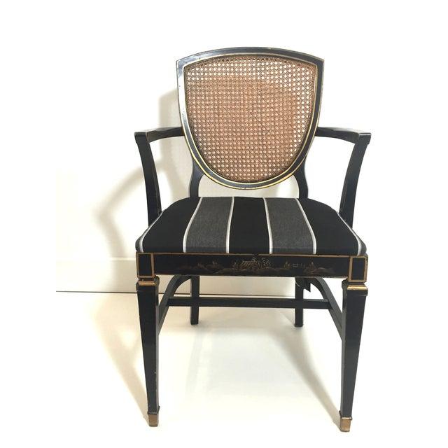 Hepplewhite Style Ebony Chinoiserie Chair - Image 3 of 10