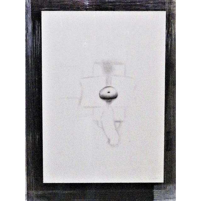 1970s Modern Abstract Cuban Graphite / Paper Art by Agustin Fernandez For Sale In Miami - Image 6 of 12