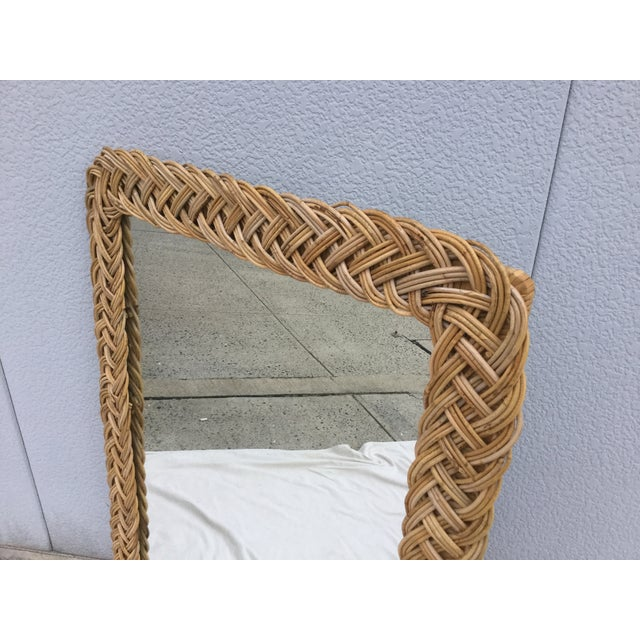 1960's Modern Rattan Mirror - Image 4 of 7