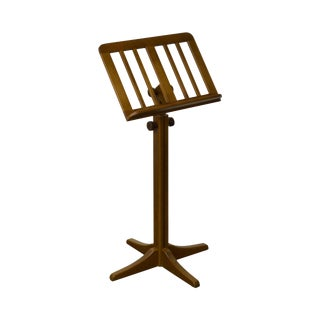 K&M Beech Wood Adjustable Height Music Stand For Sale