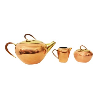 Tea set by Erich Kolbenheyer for EKW, 1950s - Set of 3 For Sale