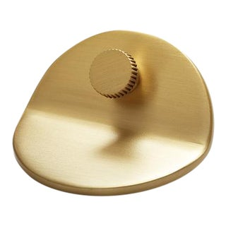 Geo-01 Satin Brass Knob For Sale