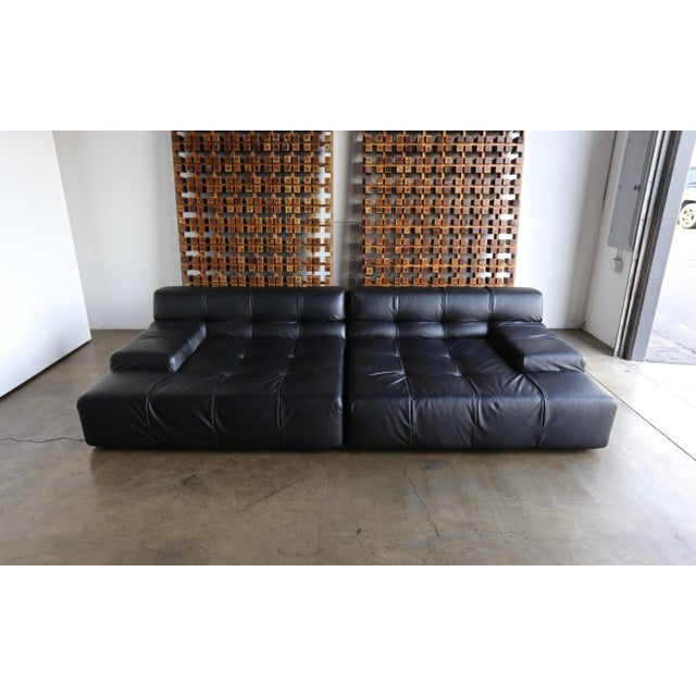 B&b Italia Tufty Time Leather Sofa by Patricia Urquiola For Sale - Image 10 of 10