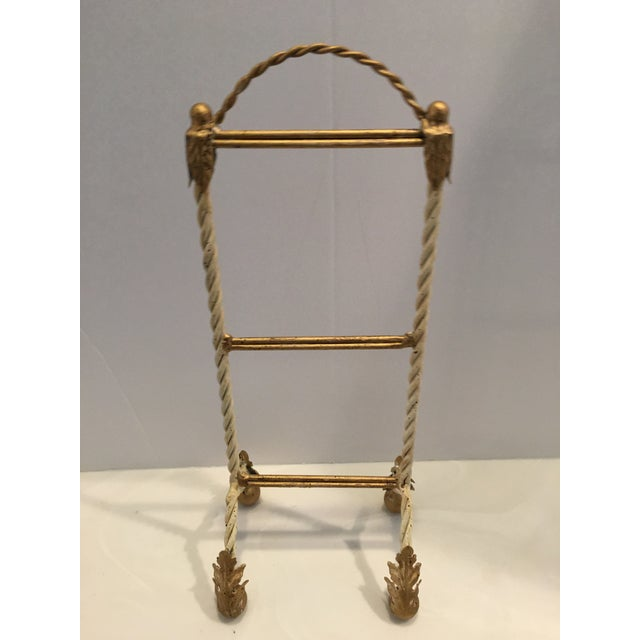 1980s Italian Painted Hand Towel Holder For Sale - Image 5 of 8