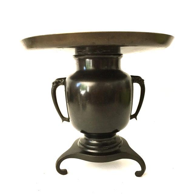 Japanese Usabata Bronze Flower Vase - Image 2 of 6