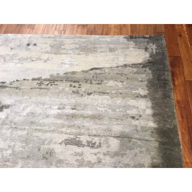Contemporary Transitional and Modern Rugs - Bunker Wall Rug (Smoke - 8 X 10) For Sale - Image 3 of 6