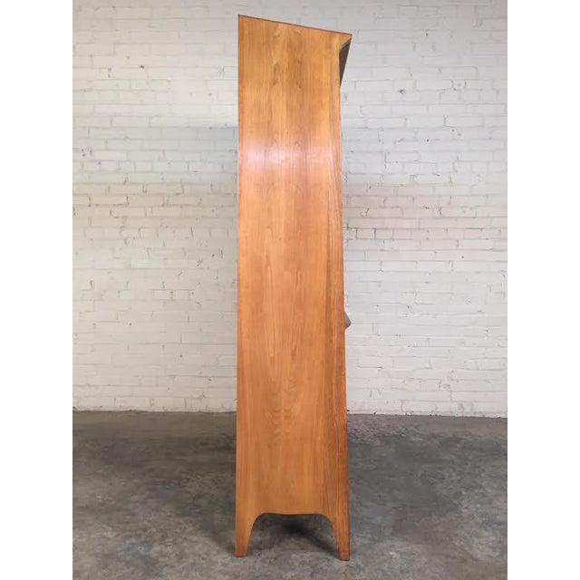 John Van Koert for Drexel Profile Mid-Century Walnut China & Display Cabinet - Image 6 of 8