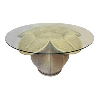 Rattan Bell Flower Dining Table For Sale
