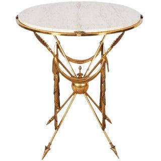 1970s Italian Brass Martini Table For Sale