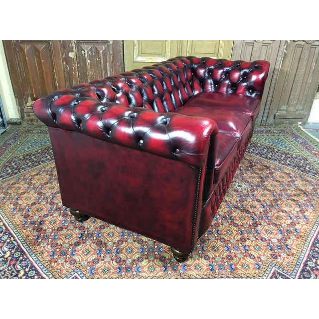 Vintage 20th Century English Traditional Oxblood Leather