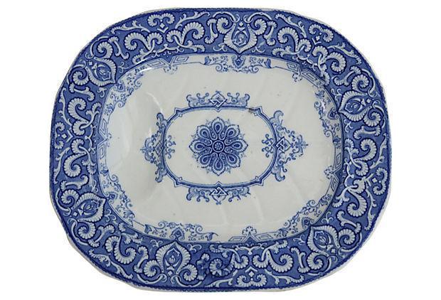 Small Ironstone Well \u0026 Tree Game Platter  sc 1 st  Chairish & Vintage \u0026 Antique Dinnerware | Chairish