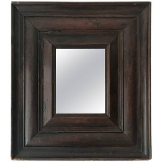 Antique French Carved Wood Mirror For Sale
