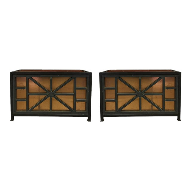 Iron and Copper Planters - a Pair - Image 1 of 6