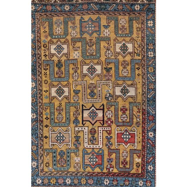 Islamic Shirvan 19th Century Caucasian Rug - 3′10″ × 4′10″ For Sale - Image 3 of 9