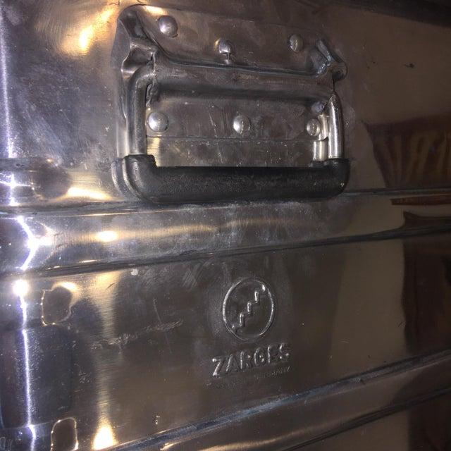 Vintage Polished Steel Zarges Industrial Trunk - Image 8 of 10