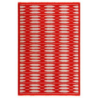 Vintage Double-Sided Scandinavian Rug - 5′ × 7′5″ For Sale