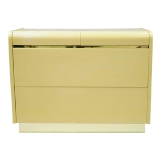 Lane Cream Lacquered 4 Drawer Dresser For Sale