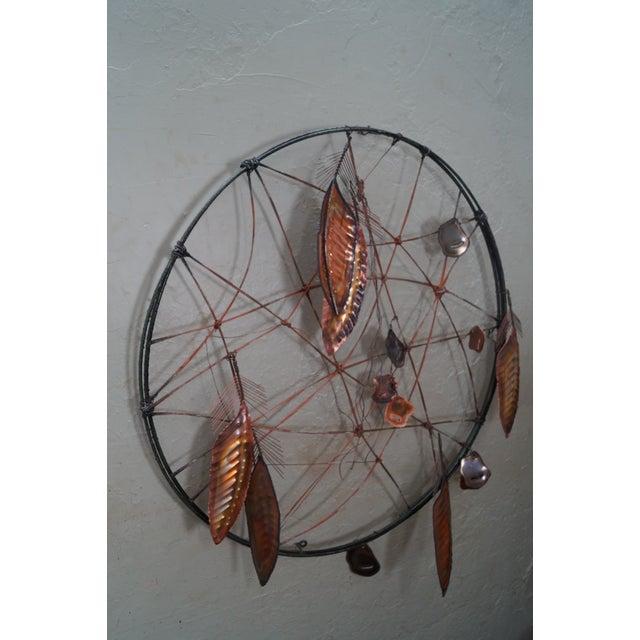 Curtis Jere Metal Dreamcatcher Wall Sculpture - Image 2 of 10