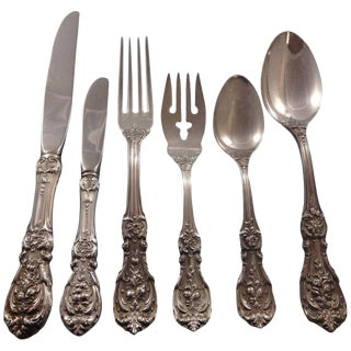 Francis I Reed & Barton Sterling Silver Flatware 8 Set 48 Pieces Script Mark For Sale