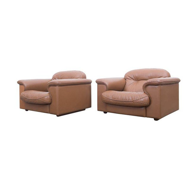 Set of two adjustable DS 101 lounge chairs by De Sede Adjustable and very comfortable lounge chairs by De Sede, Swiss,...